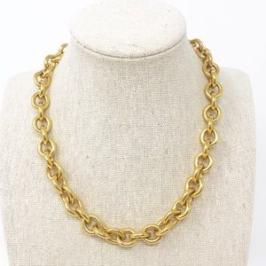 LRL Ralph Lauren Gold Tone Chunky Chain Necklace